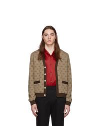 Cardigan en tricot marron Gucci