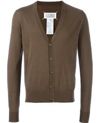 Cardigan en tricot marron Maison Margiela