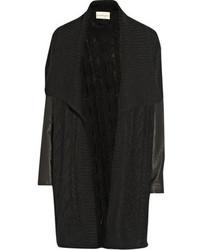 Cardigan en tricot noir DKNY