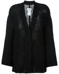 Cardigan en tricot noir Maison Margiela