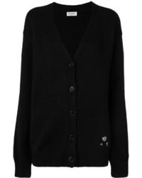 Cardigan en tricot noir Saint Laurent