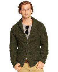 Cardigan en tricot olive
