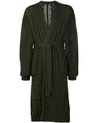 Cardigan en tricot olive Balmain