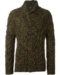 Cardigan en tricot olive Polo Ralph Lauren