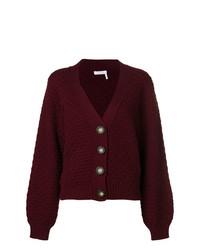 Cardigan en tricot pourpre foncé See by Chloe