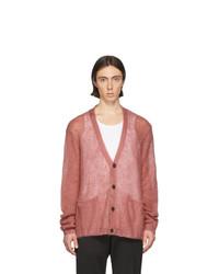 Cardigan en tricot rose Maison Margiela