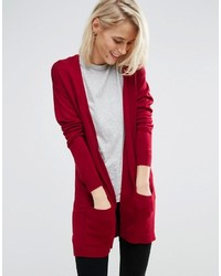 Cardigan en tricot rouge Asos