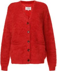 Cardigan en tricot rouge Maison Margiela