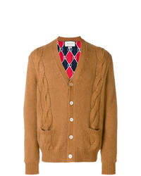 Cardigan en tricot tabac Gucci