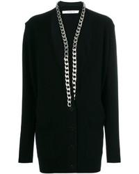Cardigan géométrique noir Givenchy