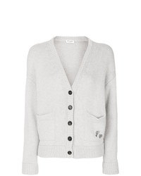 Cardigan gris Saint Laurent