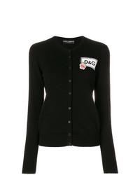 Cardigan imprimé noir et blanc Dolce & Gabbana