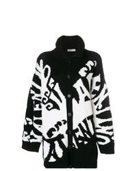 Cardigan imprimé noir et blanc Valentino