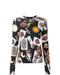 Cardigan imprimé noir Dolce & Gabbana