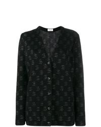 Cardigan imprimé noir Saint Laurent