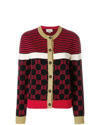 Cardigan imprimé rouge Gucci