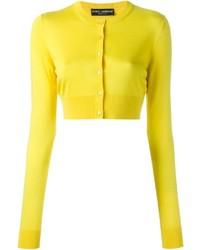 Cardigan jaune Dolce & Gabbana