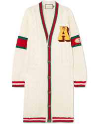 Cardigan long blanc Gucci