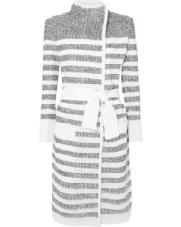 Cardigan long gris Balmain