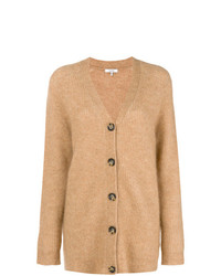 Cardigan long marron clair Ganni