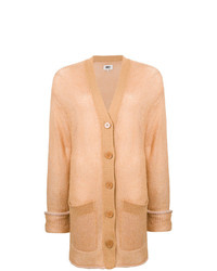 Cardigan long marron clair MM6 MAISON MARGIELA