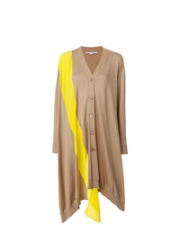Cardigan long marron clair Stella McCartney