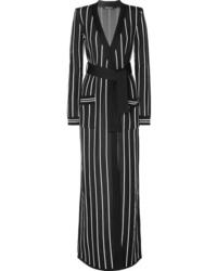 Cardigan long noir Balmain
