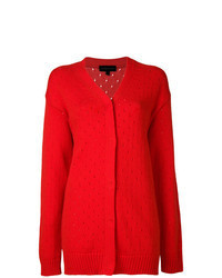 Cardigan long rouge