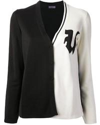 Cardigan noir et blanc