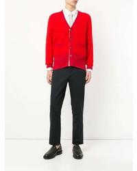 Cardigan rouge Thom Browne