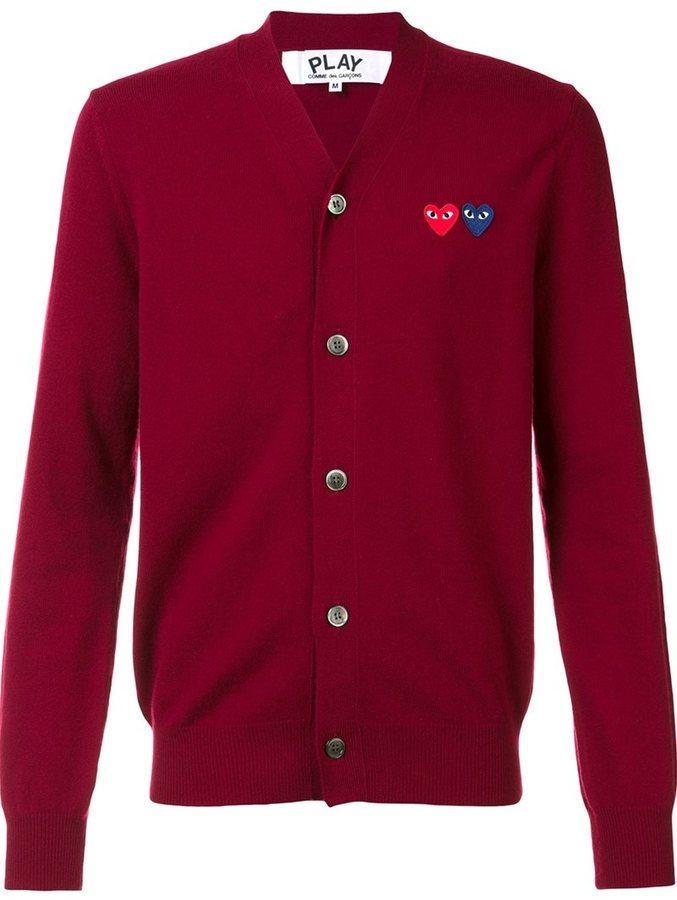 Cardigan rouge Comme des Garcons
