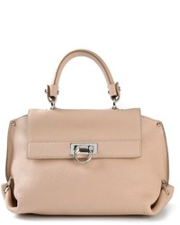 Cartable en cuir beige