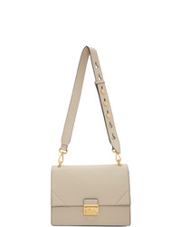 Cartable en cuir beige Fendi