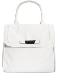 Cartable en cuir blanc