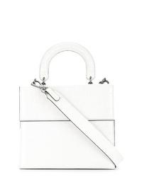 Cartable en cuir blanc 0711