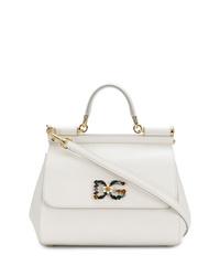 Cartable en cuir blanc Dolce & Gabbana