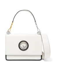 Cartable en cuir blanc Fendi