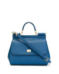 Cartable en cuir bleu Dolce & Gabbana