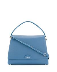 Cartable en cuir bleu Lanvin