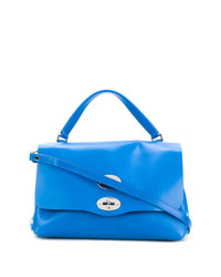 Cartable en cuir bleu Zanellato