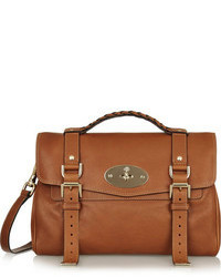 Cartable en cuir brun Mulberry