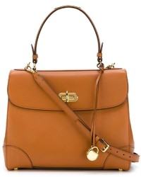 Cartable en cuir brun Ralph Lauren