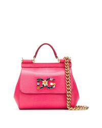 Cartable en cuir fuchsia Dolce & Gabbana