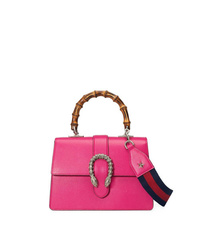 Cartable en cuir fuchsia Gucci