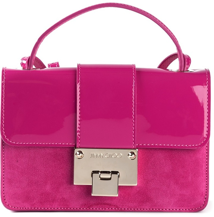 Cartable en cuir fuchsia Jimmy Choo