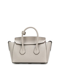 Cartable en cuir gris Bally