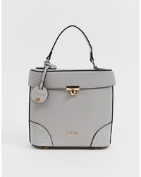 Cartable en cuir gris Dune
