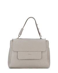 Cartable en cuir gris Furla