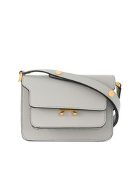 Cartable en cuir gris Marni