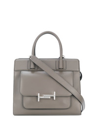 Cartable en cuir gris Tod's